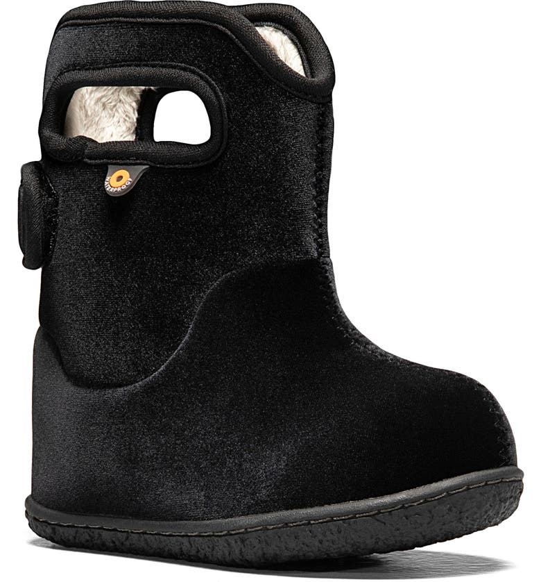 BOGS Baby Bogs Velvet Insulated Waterproof Boot, Main, color, Black