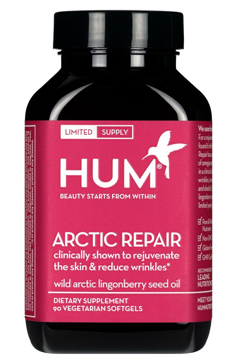 HUM NUTRITION Arctic Repair Supplement for Fine Lines and Wrinkles, Main, color, 000