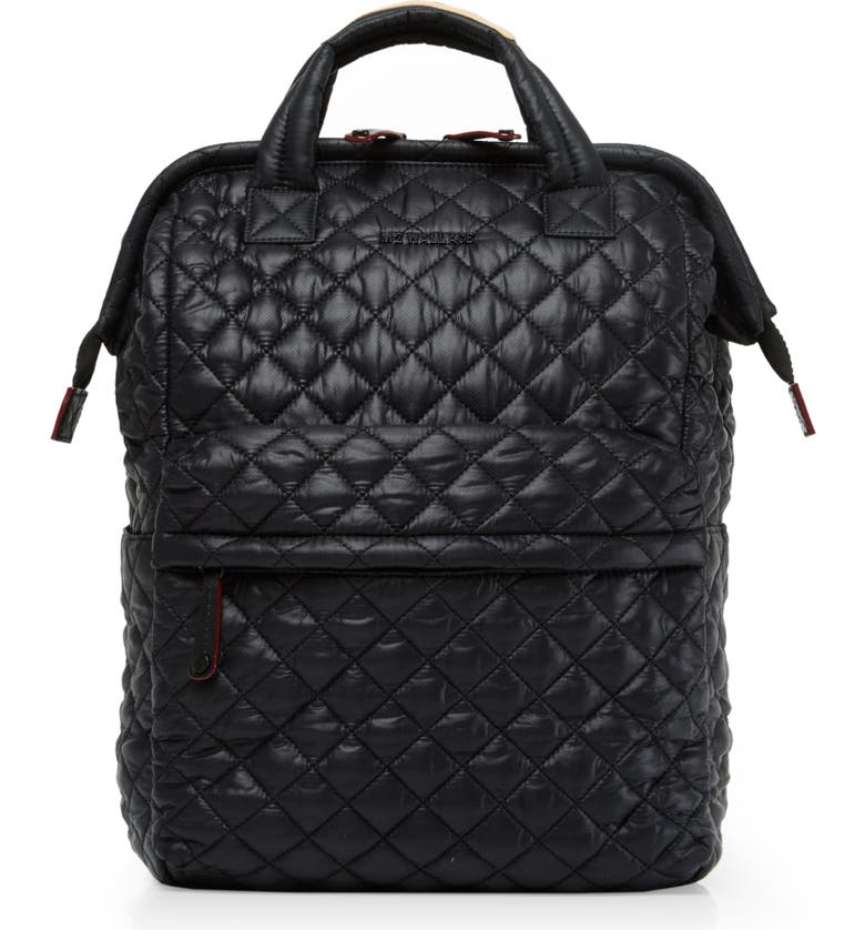 MZ WALLACE Top Handle Backpack, Main, color, BLACK