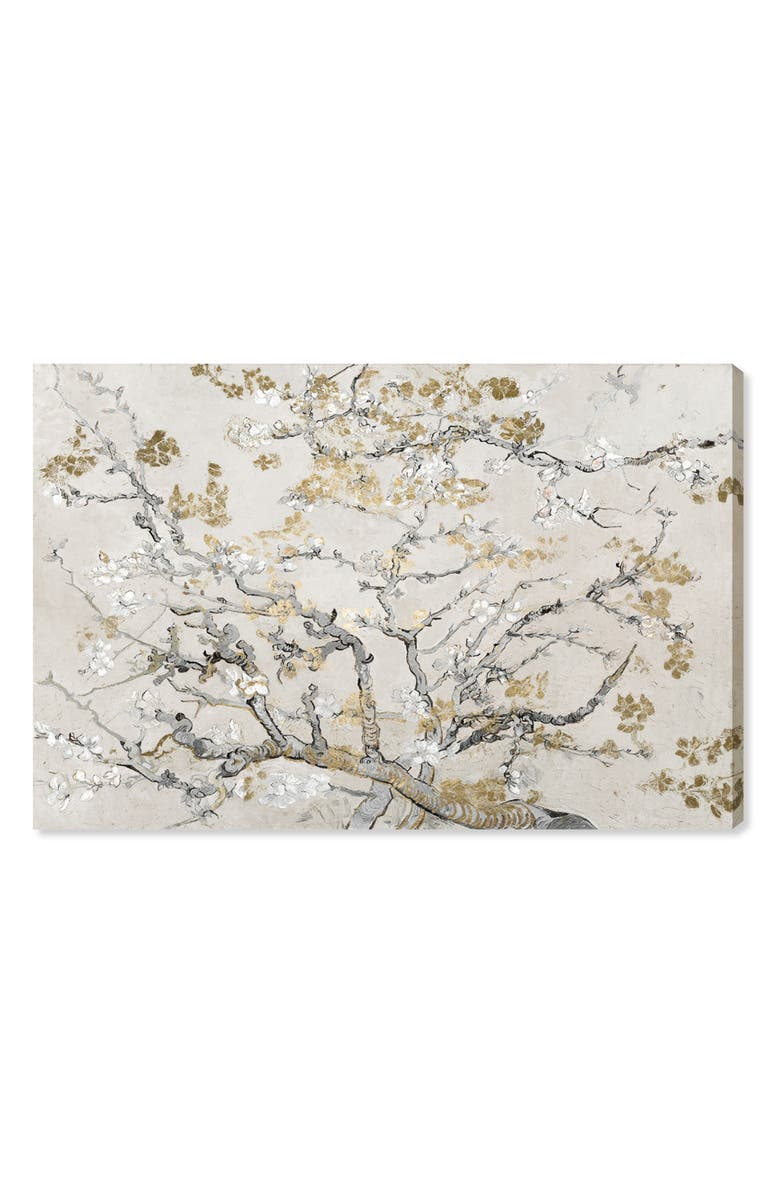 OLIVER GAL Gold Blossoms Canvas Wall Art, Main, color, 250