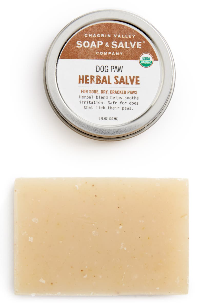 CHAGRIN VALLEY Package Free x Chagrin Valley Dog Paw Herbal Salve & Dog Shampoo Bar Set, Main, color, MULTI