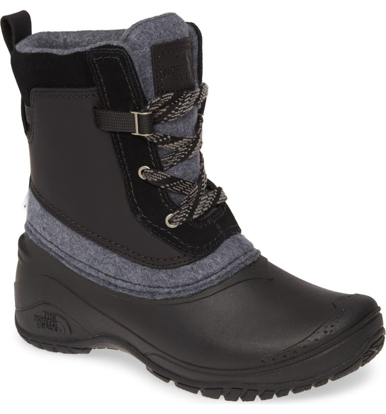 THE NORTH FACE Shellista III Insulated Snow Boot, Main, color, BLACK/ GREY SUEDE