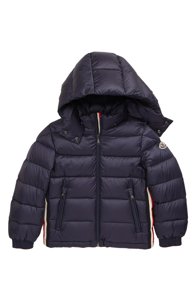 MONCLER Kids' New Gastonet Water Resistant Down Puffer Jacket, Main, color, NAVY