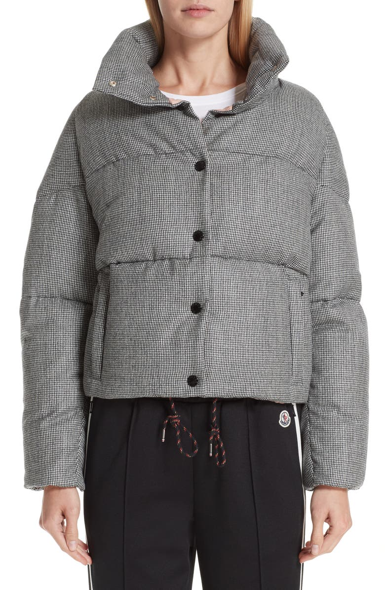 MONCLER Cer Wool Down Puffer Jacket, Main, color, 001