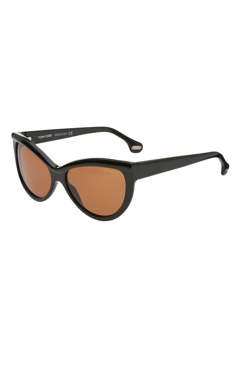 TOM FORD 'Anouk' Sunglasses, Main, color, BLK