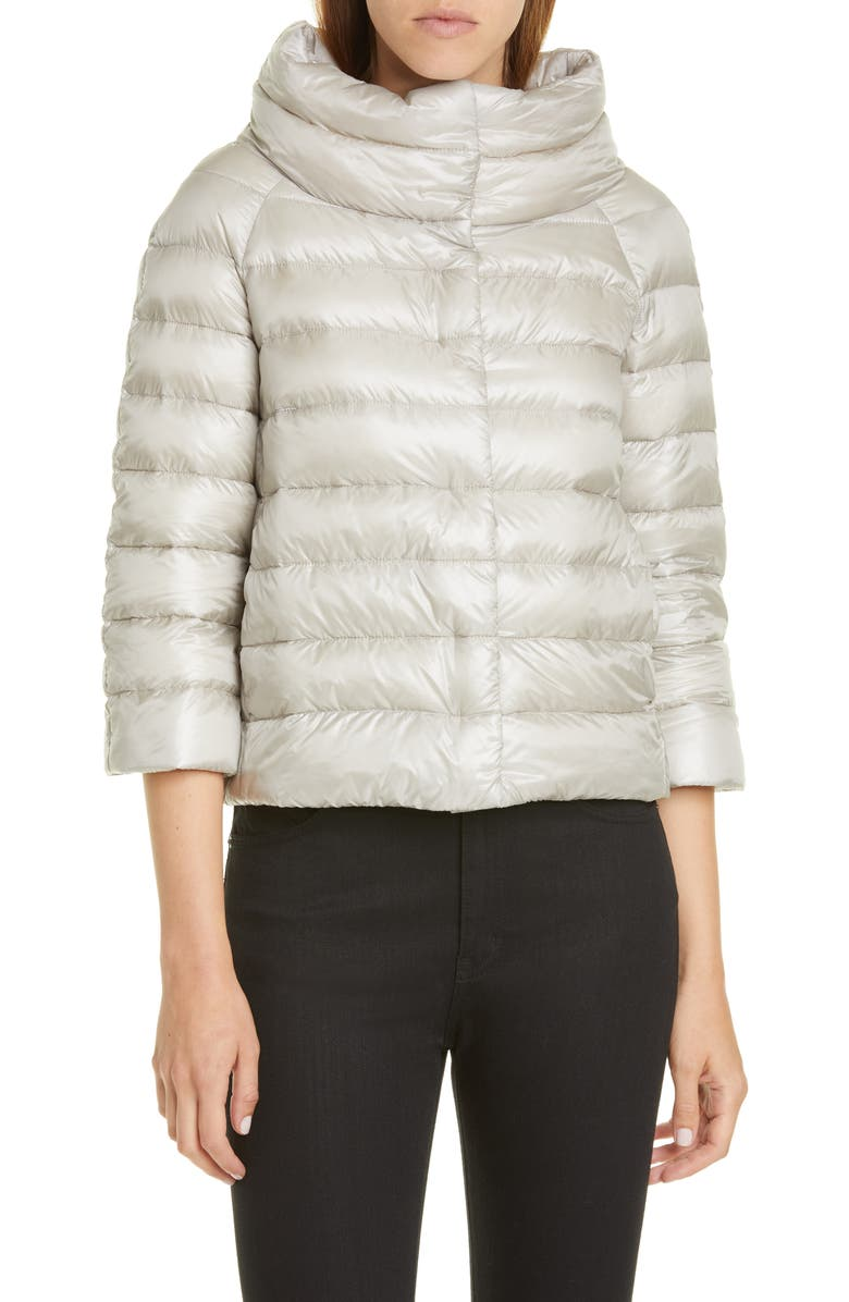 HERNO Sofia Down Crop Puffer Jacket, Main, color, 020