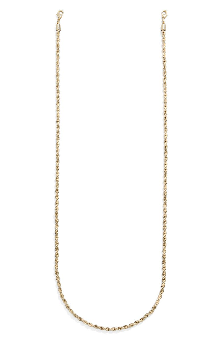 BAUBLEBAR Twisted Face Mask Chain, Main, color, Gold