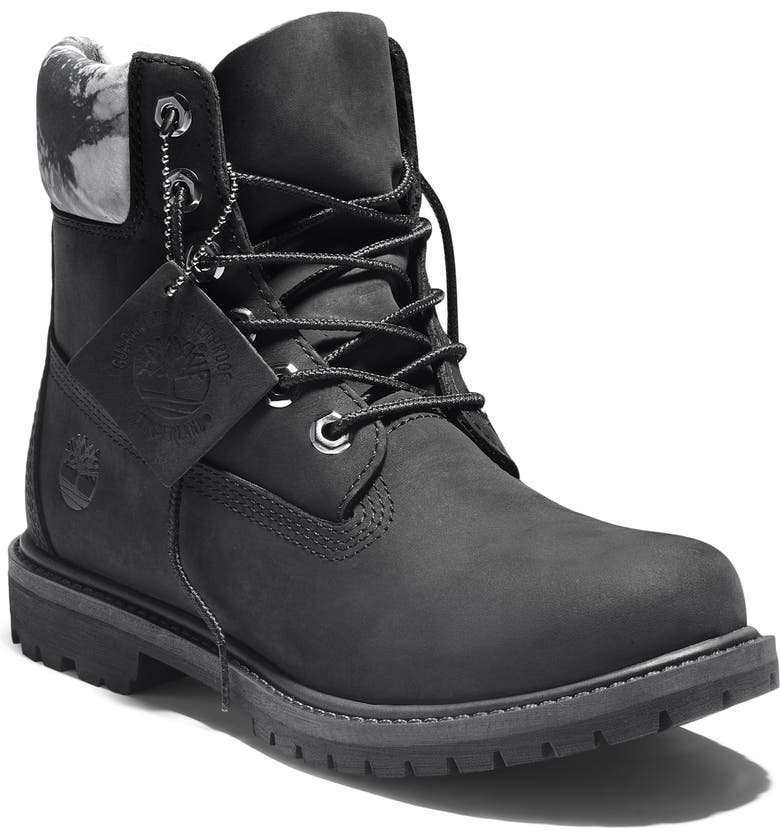 TIMBERLAND 6-Inch Premium Waterproof Boot, Main, color, BLACK LEATHER