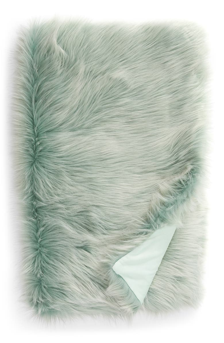 NORDSTROM at Home Faux Fur Throw, Main, color, 440