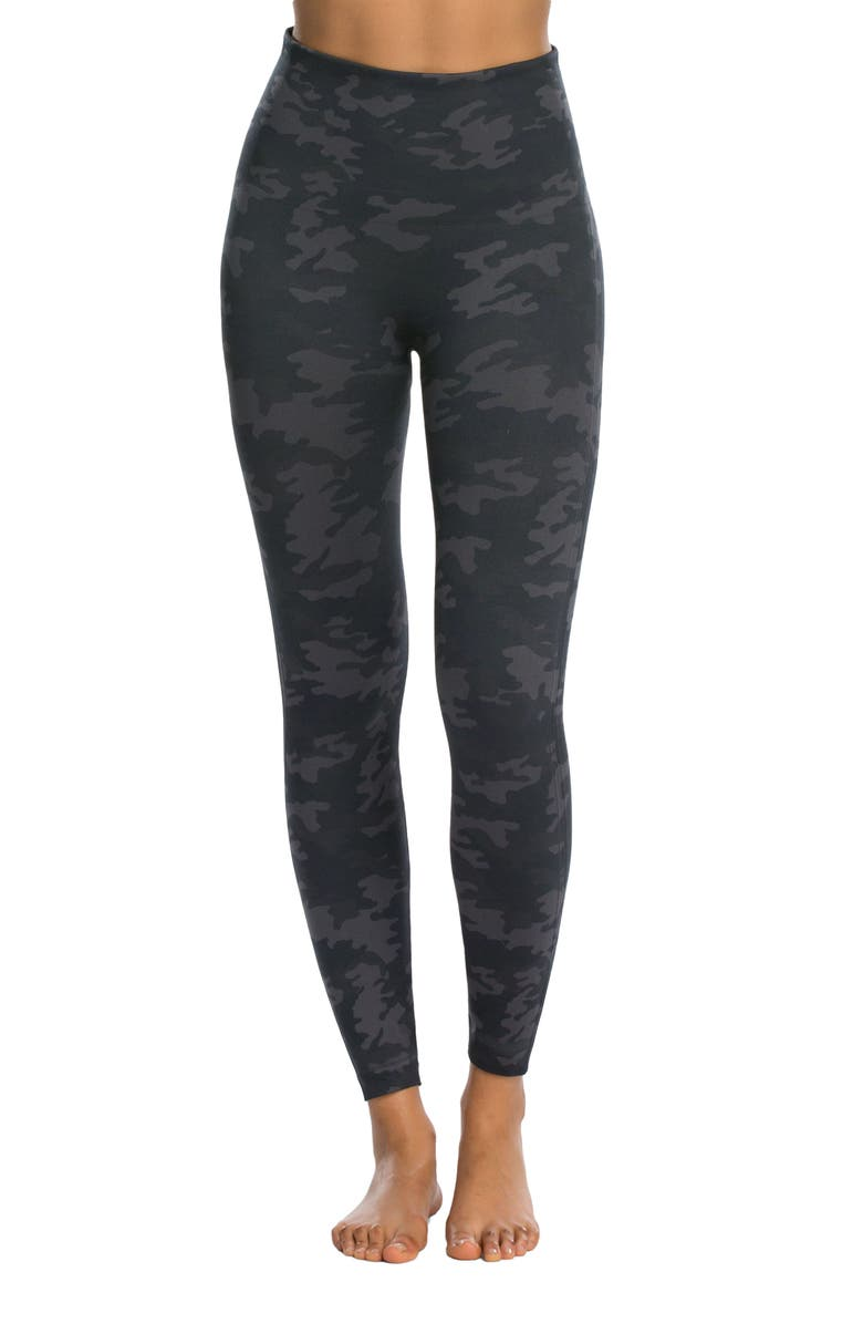 SPANX<SUP>®</SUP> Look at Me Now Seamless Leggings, Main, color, BLACK CAMO