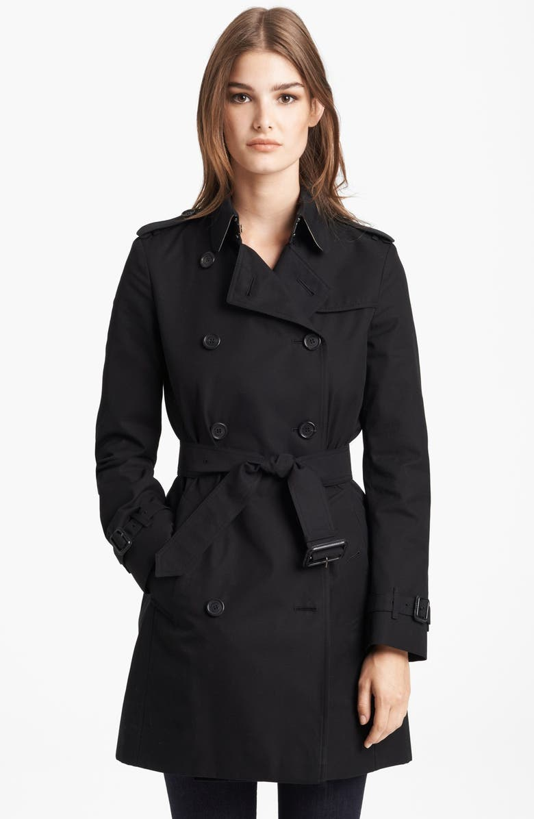 BURBERRY LONDON 'Buckingham' Double Breasted Trench Coat, Main, color, 006