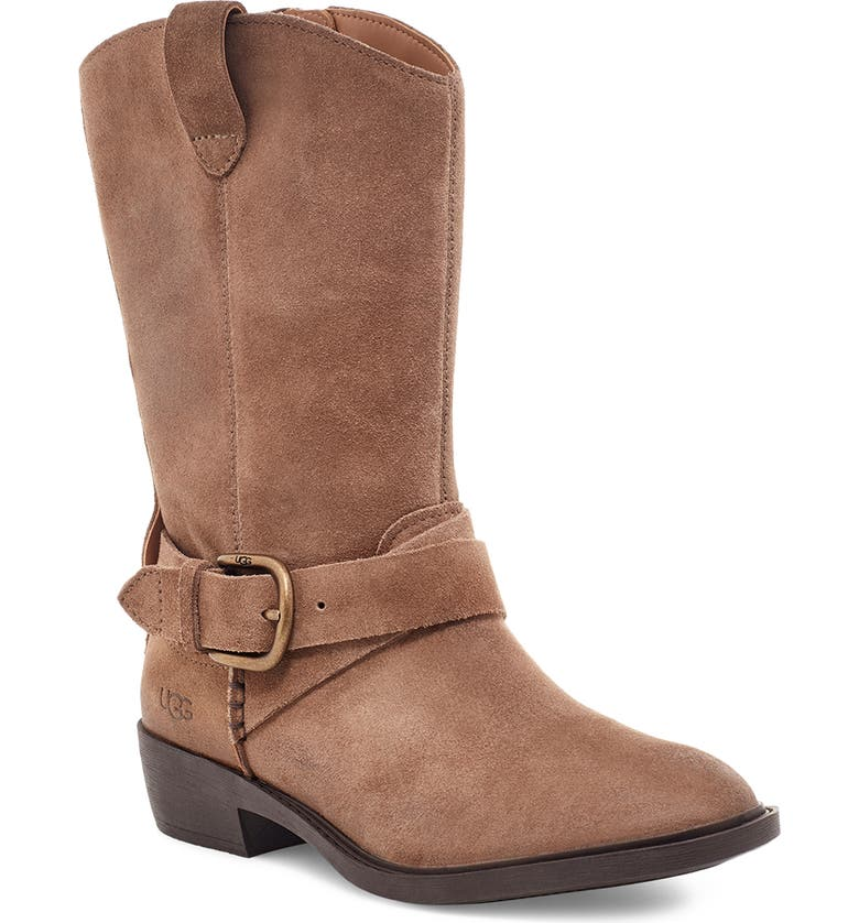 UGG<SUP>®</SUP> Reeza Boot, Main, color, COFFEE GROUNDS SUEDE