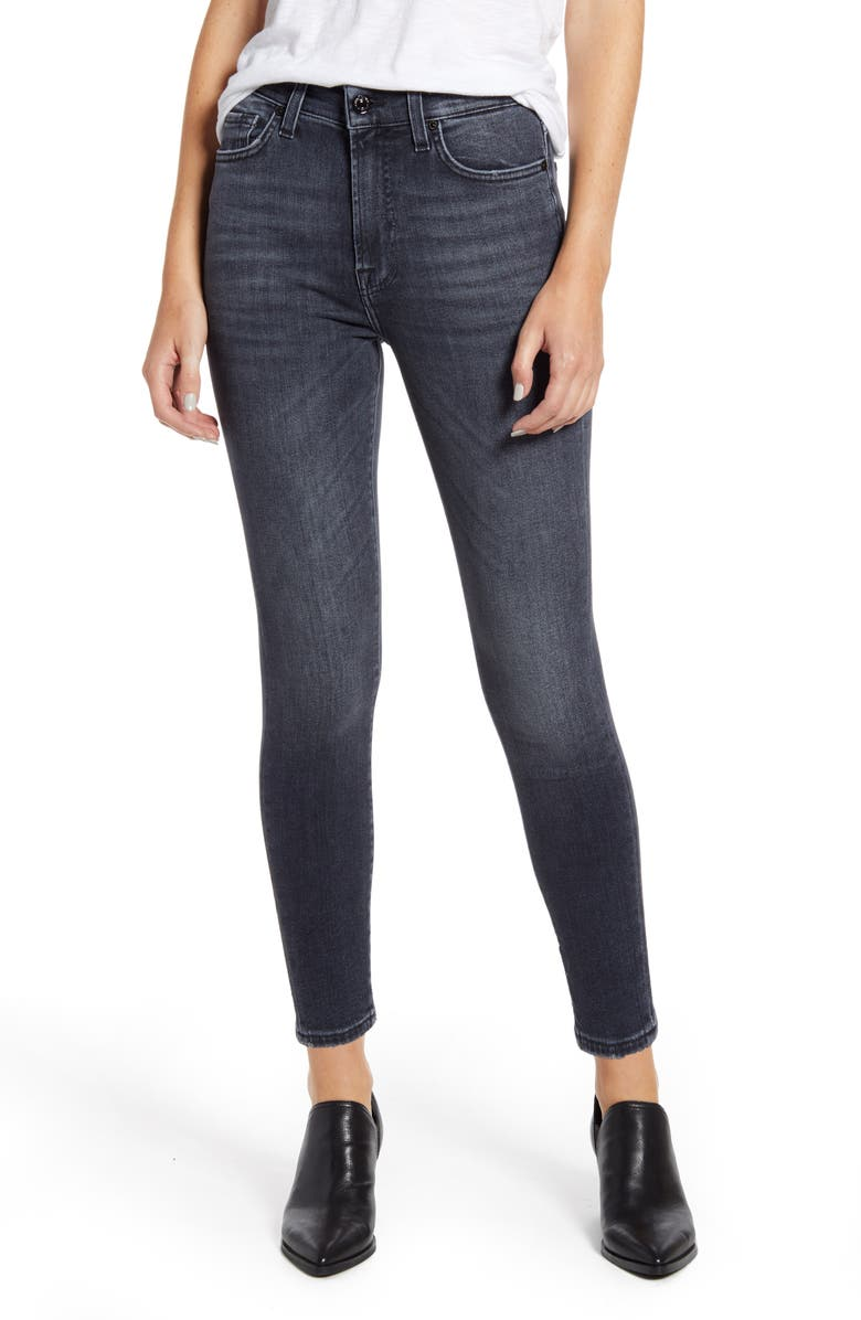 7 FOR ALL MANKIND<SUP>®</SUP> High Waist Ankle Skinny Jeans, Main, color, LUXE VINTAGE HONEST