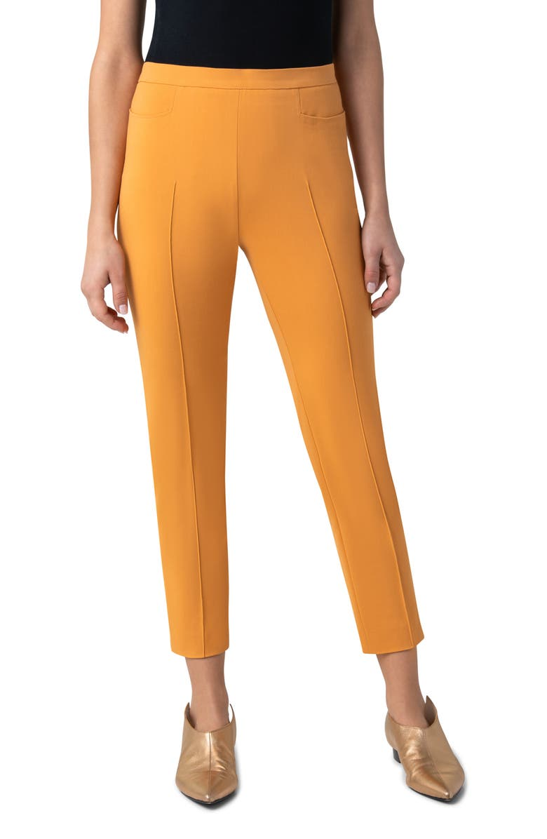 AKRIS PUNTO Franca Techno Cotton Blend Ankle Pants, Main, color, SUNSHINE POP