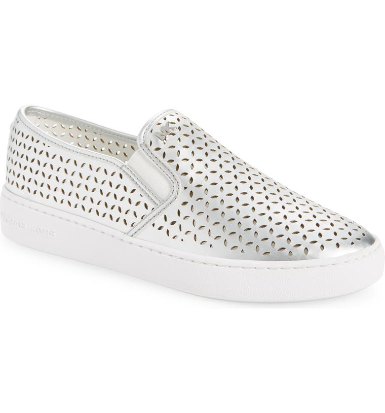 MICHAEL MICHAEL KORS Olivia Slip-On Sneaker, Main, color, SILVER
