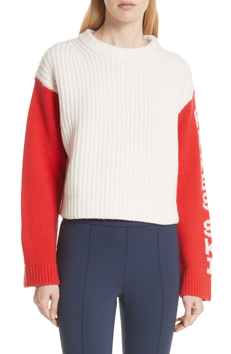 TORY SPORT BY TORY BURCH Tory Sport Crop Apres Ski Sweater, Main, color, 047
