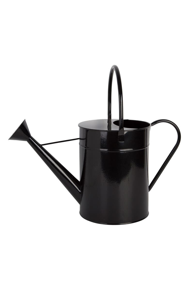 """HOME ESSENTIALS AND BEYOND 15"""" Black Watering Can, Main, color, 000"""