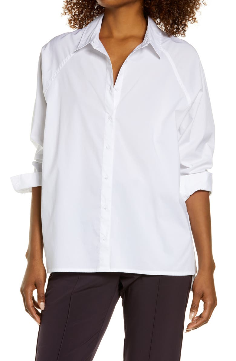 ZELLA Performance Oversize Shirt, Main, color, WHITE