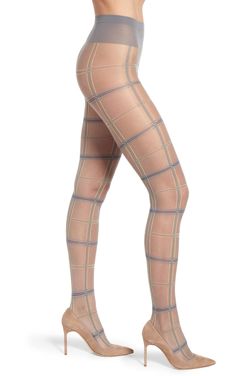 OROBLU Tartan Sheer Tights, Main, color, 020