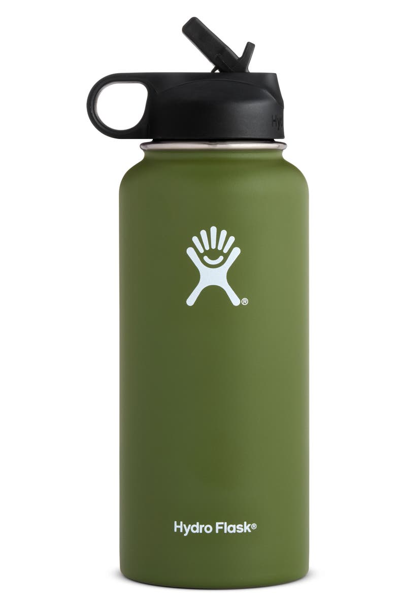 HYDRO FLASK 32-Ounce Wide Mouth Bottle with Straw Lid, Main, color, 310
