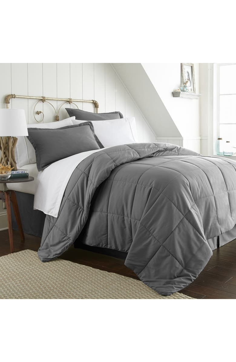 IENJOY HOME Home Spun Twin Premium Bed In A Bag - Gray, Main, color, GRAY