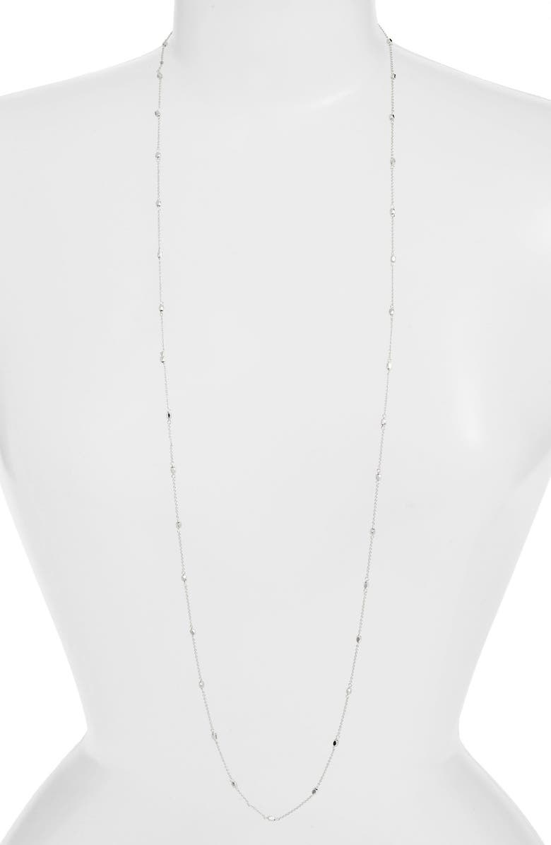GORJANA 'Thea' Wrap Stand Necklace, Main, color, SILVER