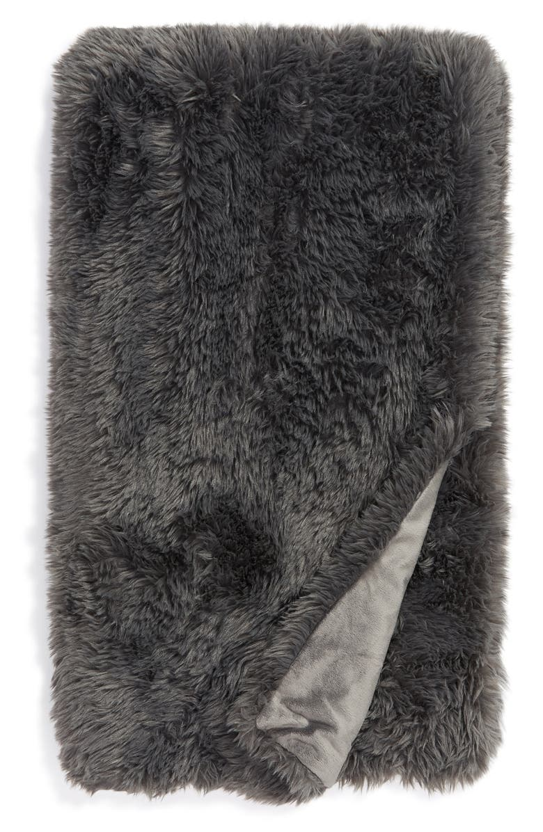 BP. Shaggy Faux Fur Throw Blanket, Main, color, 021