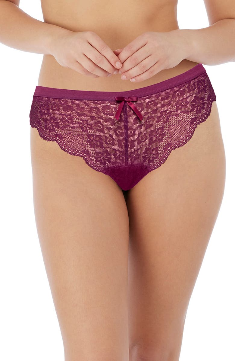 FREYA 'Fancies' Brazilian Panties, Main, color, BERRY