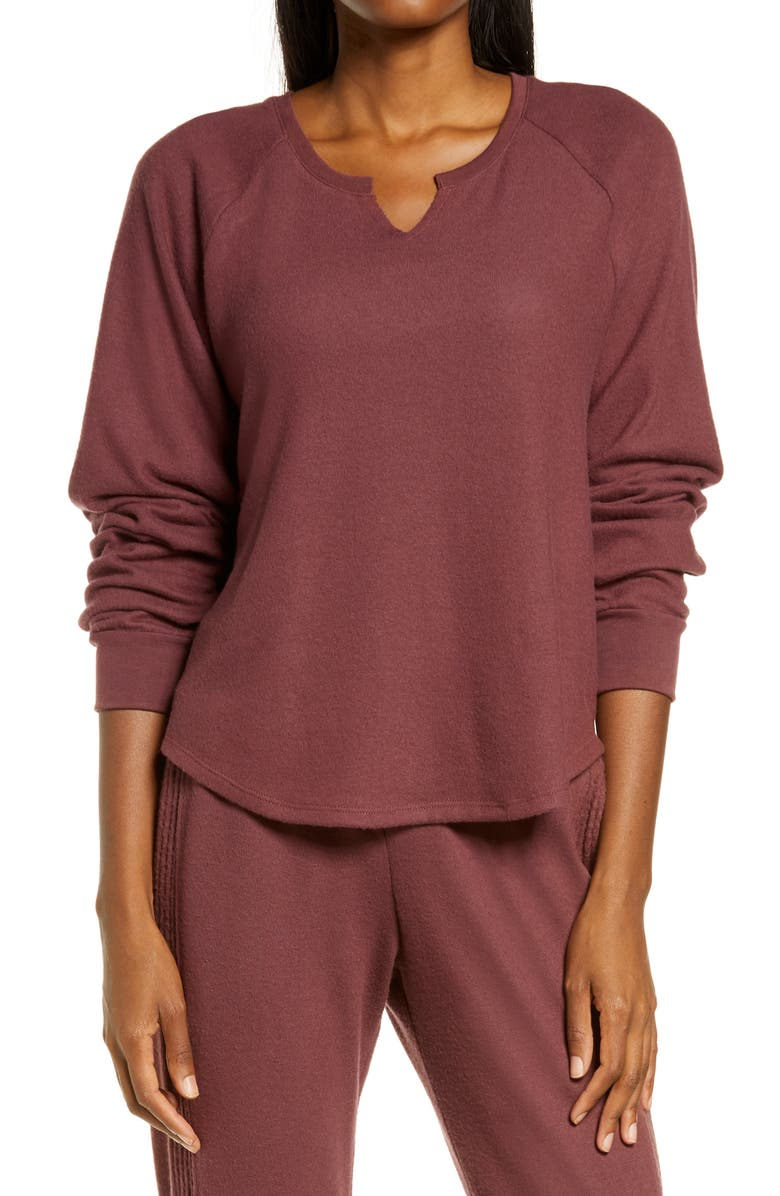 PROJECT SOCIAL T Pullover Top, Main, color, COFFEE BERRY