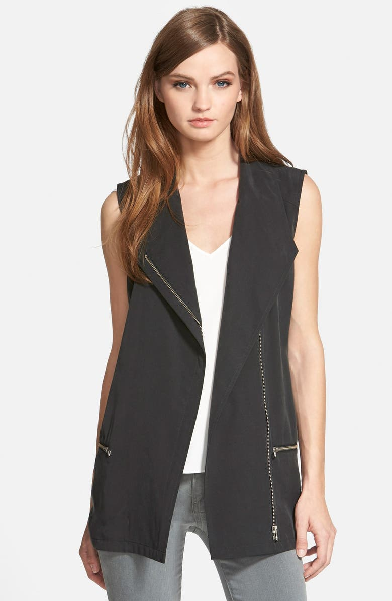 TROUVÉ Asymmetrical Moto Vest, Main, color, 001