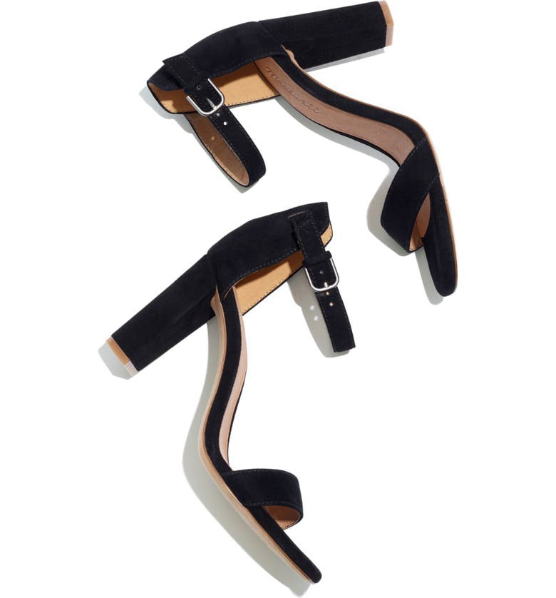 MADEWELL The Brooke Ankle Strap Sandal, Main, color, 001