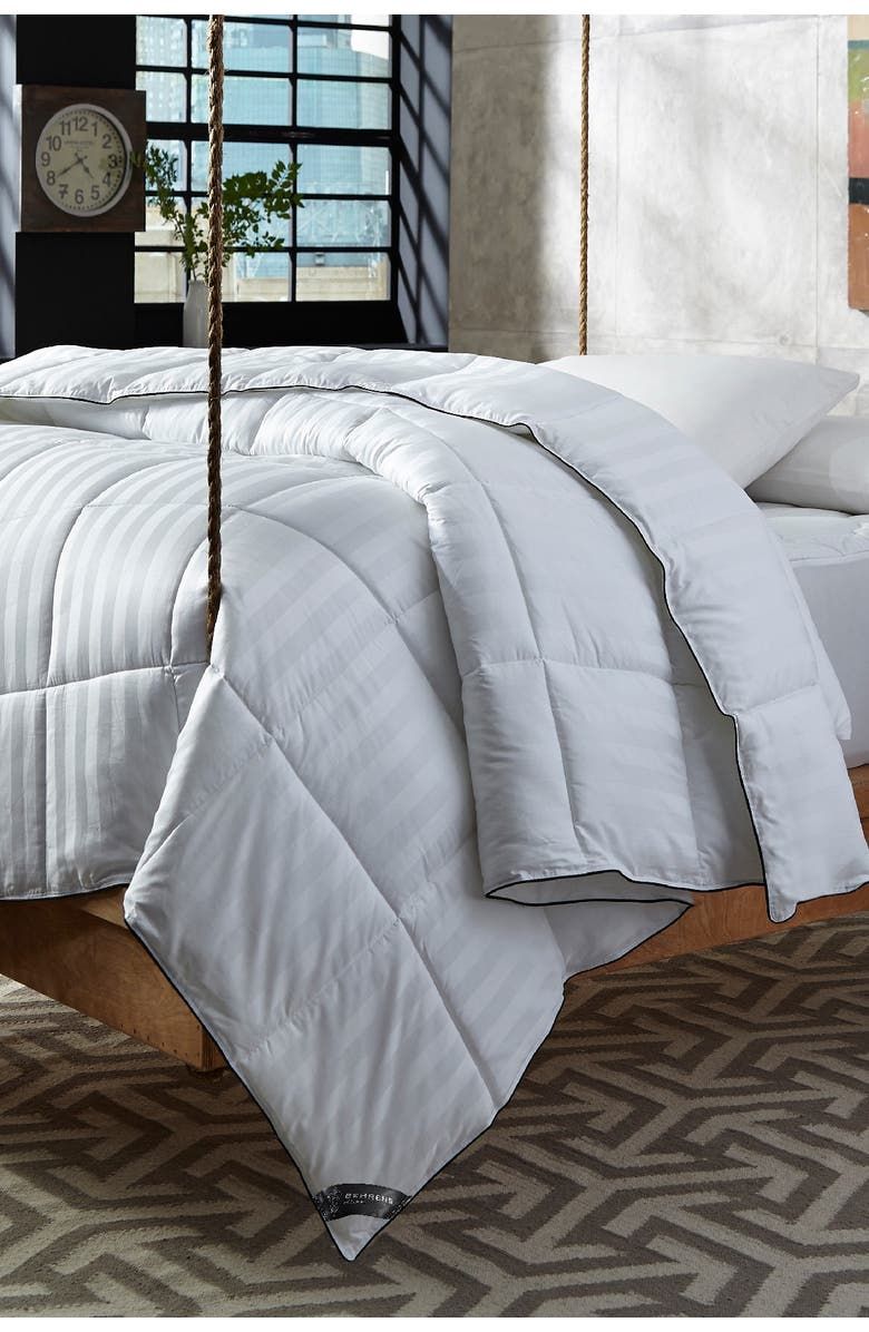 RIO HOME Behrens England Traditional European Hotel King Down Alternative Comforter with Gel Fiber, Main, color, WHITE