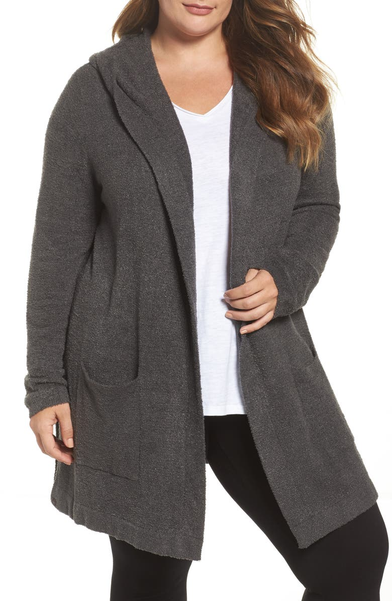 BAREFOOT DREAMS<SUP>®</SUP> CozyChic Lite<sup>®</sup> Coastal Hooded Cardigan, Main, color, 022