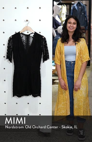 Plunging Lace Romper, sales video thumbnail