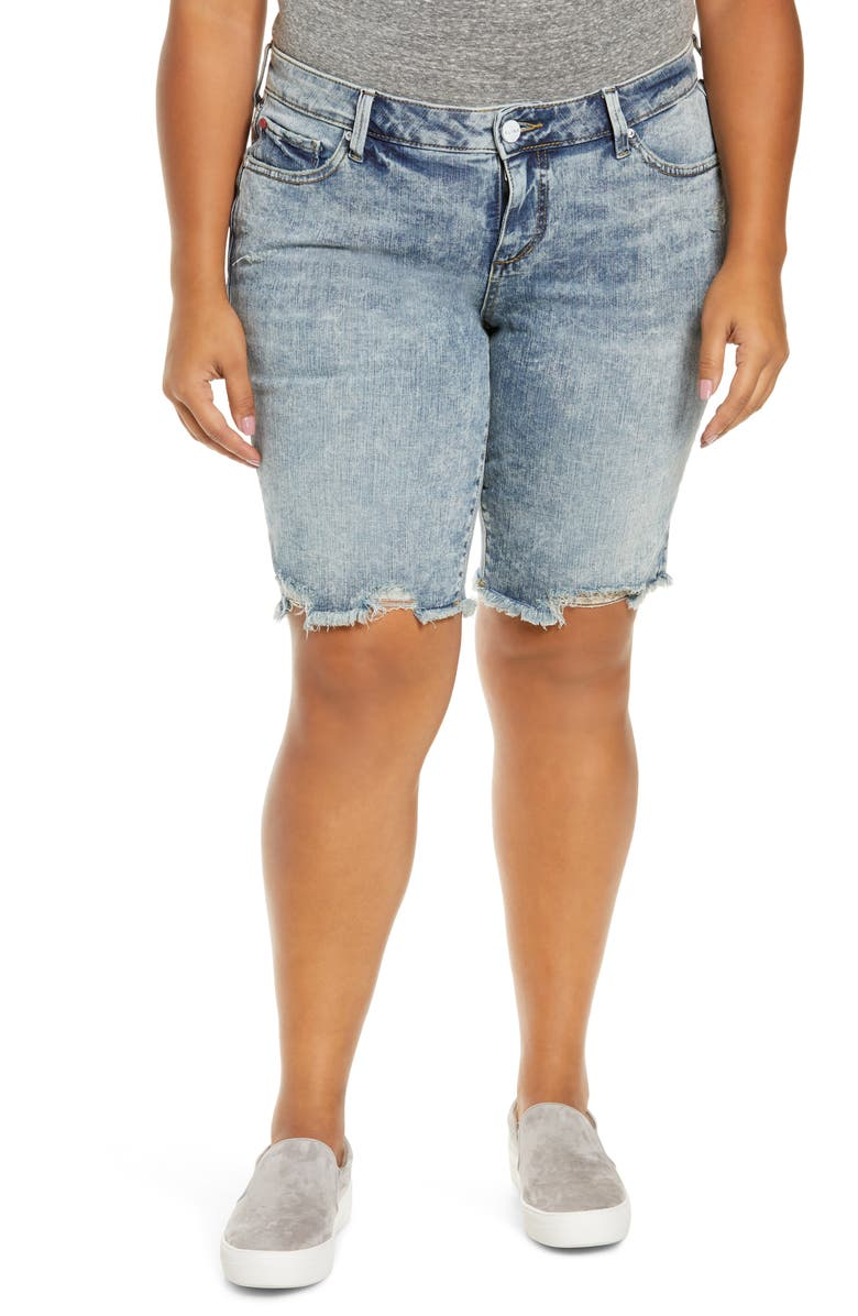 SLINK JEANS Cutoff Bermuda Shorts, Main, color, 400