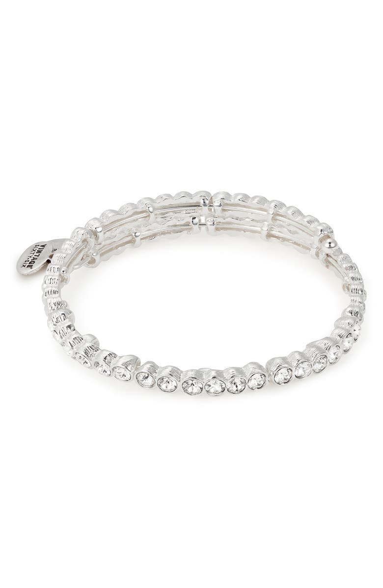 ALEX AND ANI Snowbell Crystal Wrap Bracelet, Main, color, Silver