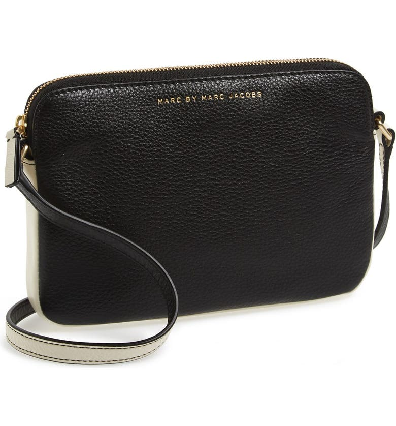 MARC JACOBS MARC BY MARC JACOBS 'Sophisticato - Dani' Leather Crossbody Bag, Main, color, 001