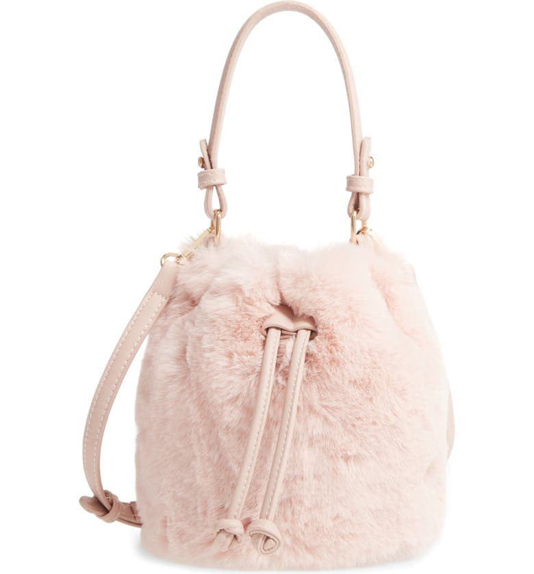BP. Furry Faux Fur Crossbody Bag, Main, color, 680