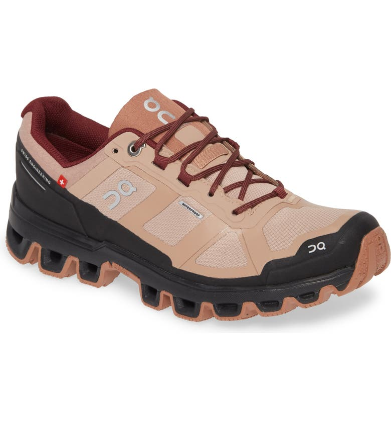 ON Cloudventure Waterproof Trail Running Shoe, Main, color, ROSEBROWN/ MULBERRY