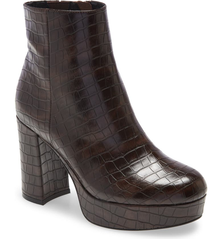 JEFFREY CAMPBELL Sahar Bootie, Main, color, BROWN CROCO