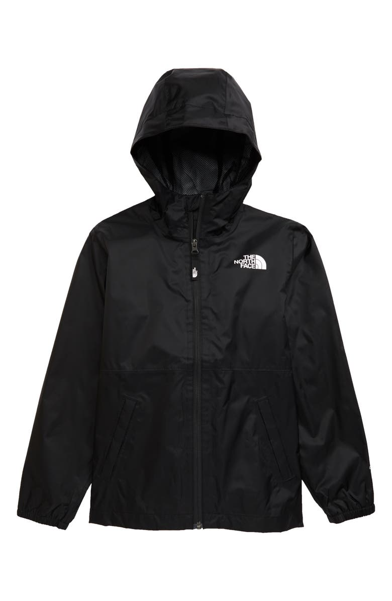 THE NORTH FACE Kids' Zipline Hooded Rain Jacket, Main, color, 001