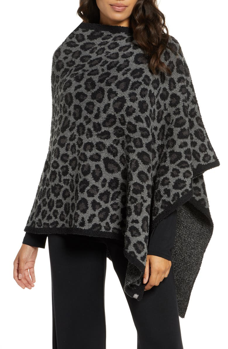 BAREFOOT DREAMS<SUP>®</SUP> CozyChic<sup>™</sup> Leopard Print Poncho, Main, color, 020