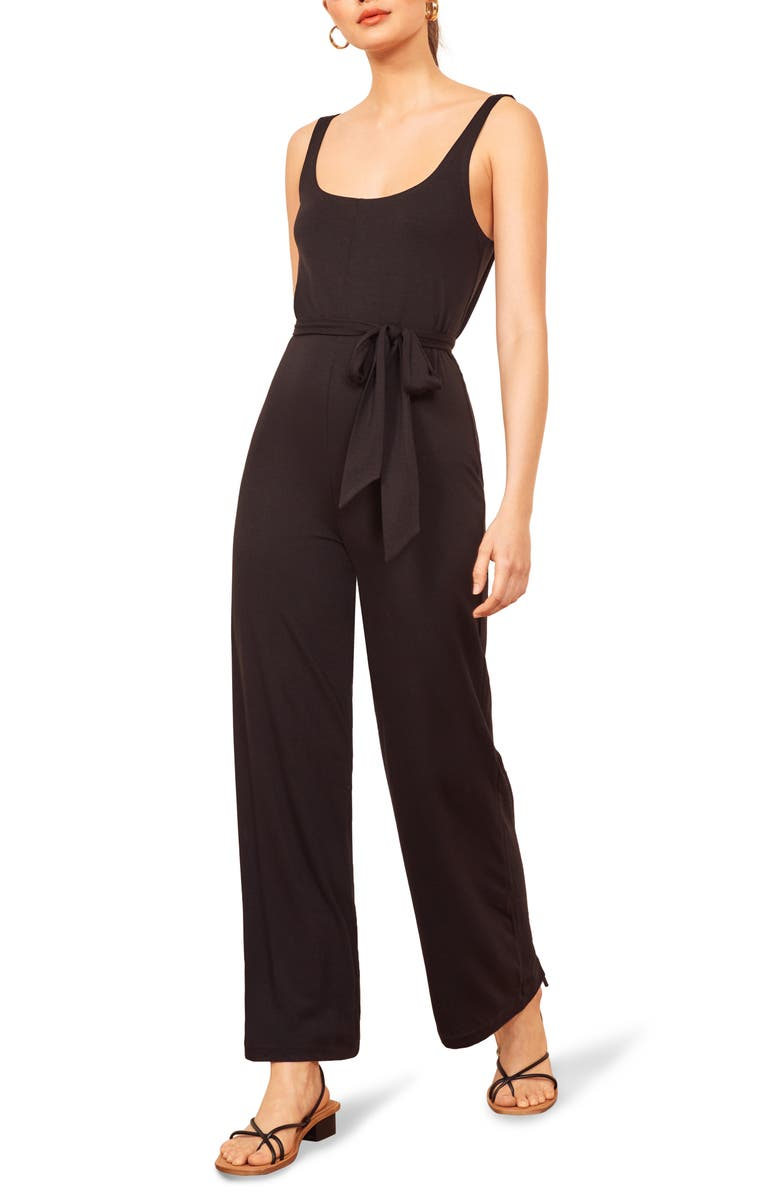 REFORMATION June Sleeveless Jumpsuit, Main, color, 001