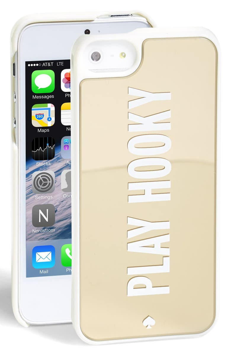 KATE SPADE NEW YORK 'play hooky' iPhone 5 & 5s case, Main, color, 710