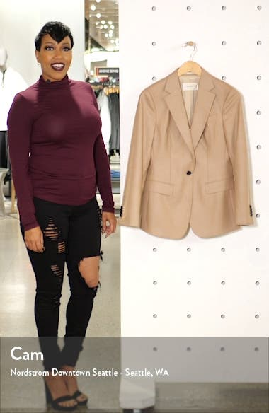 Cameron Single Breasted Wool Blazer, sales video thumbnail