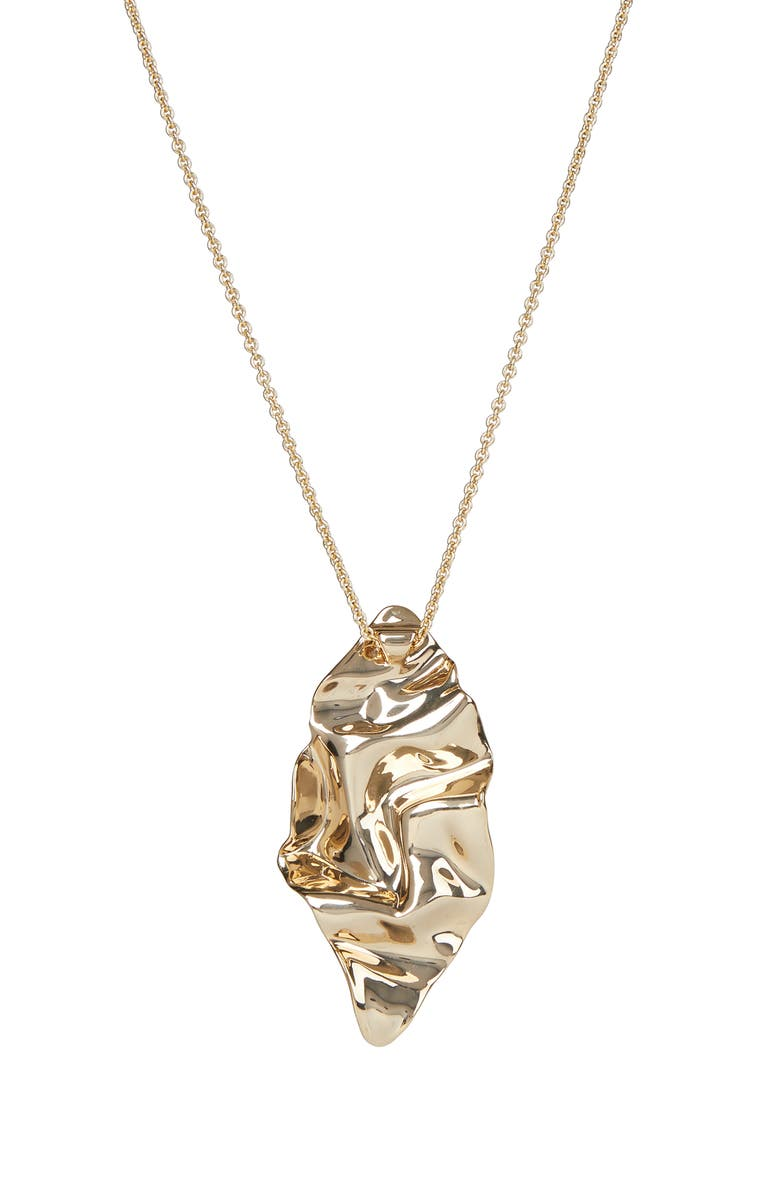 ALEXIS BITTAR Asteria Nova Crumpled Metal Long Pendant Necklace, Main, color, 710
