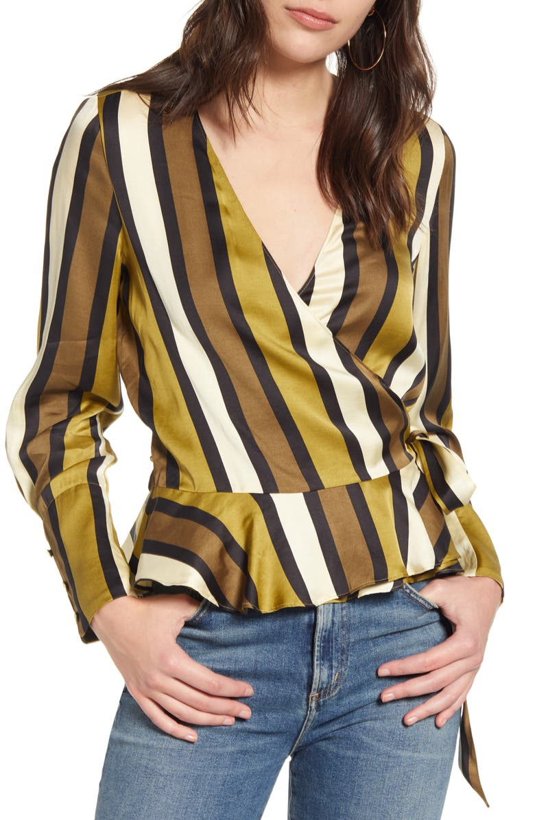 SCOTCH & SODA Stripe Wrap Top, Main, color, 300