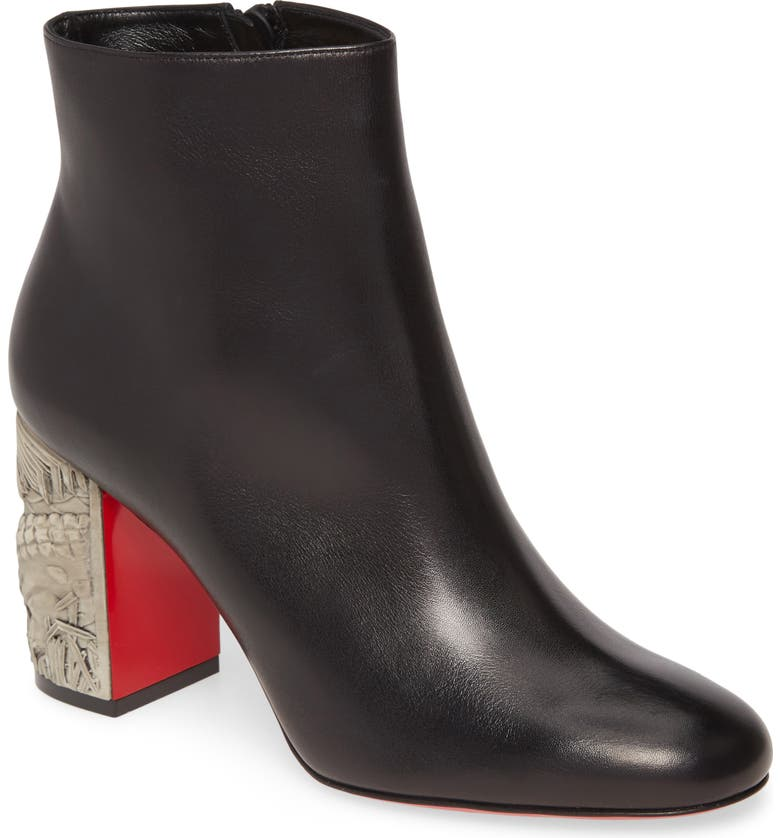 CHRISTIAN LOUBOUTIN Scrunch Bootie, Main, color, 002