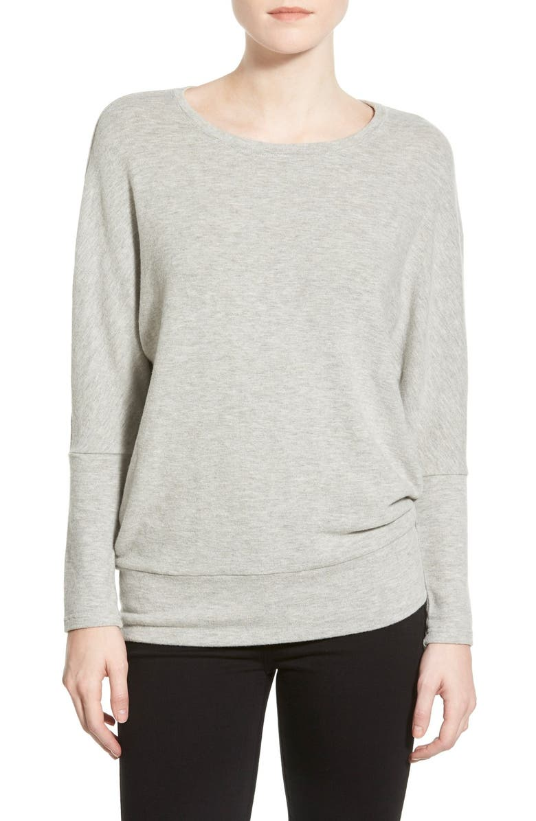 CUPCAKES AND CASHMERE 'Pia Favorite' Pullover, Main, color, LIGHT HEATHER GREY