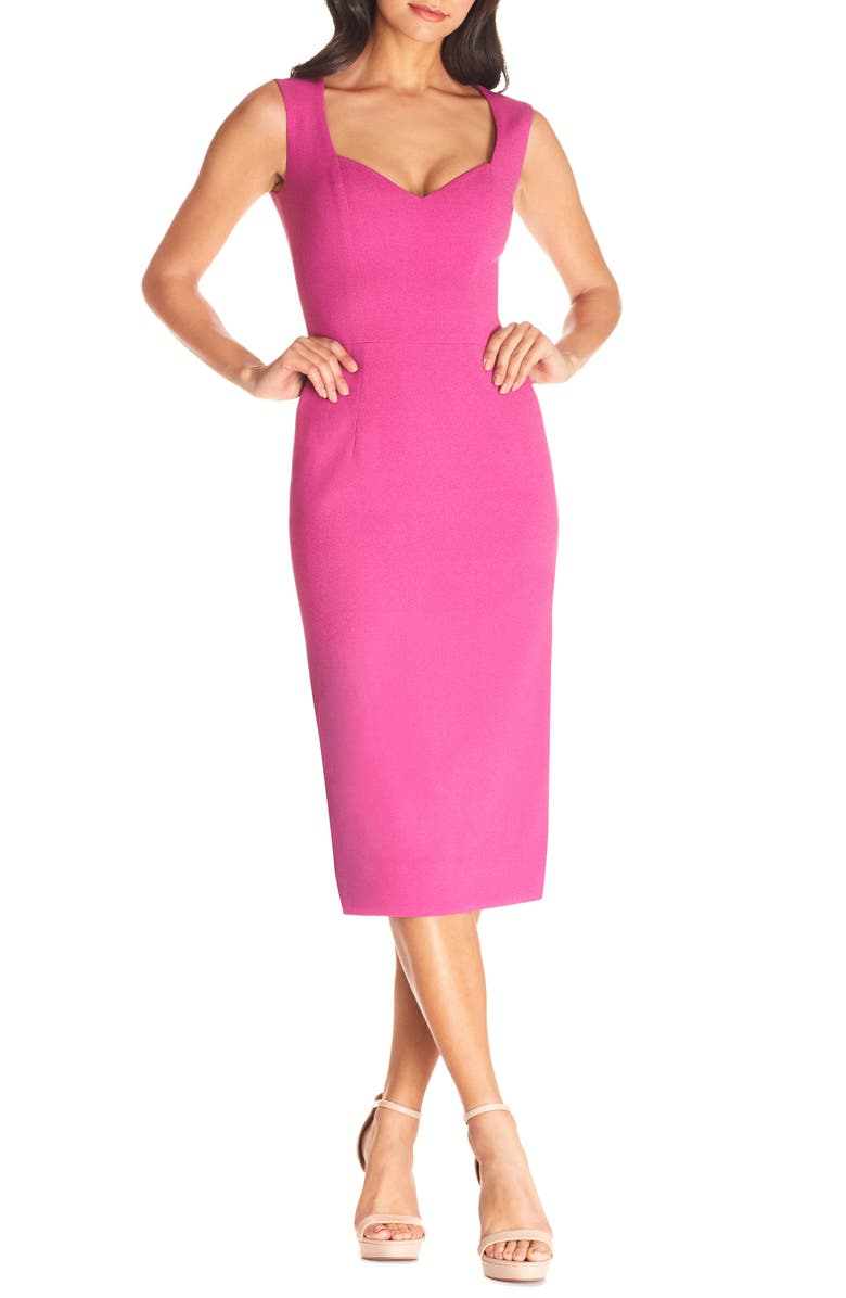 DRESS THE POPULATION Elle Sheath, Main, color, HIBISCUS